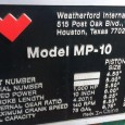 Two (2) Weatherford MP10 F Style Mud Pump – Conventional, Single-Acting Triplex Piston Design – Rated for 1000 HP Continuous Duty Operation – 140 SPM Maximum Operating Speed – 10″ […]