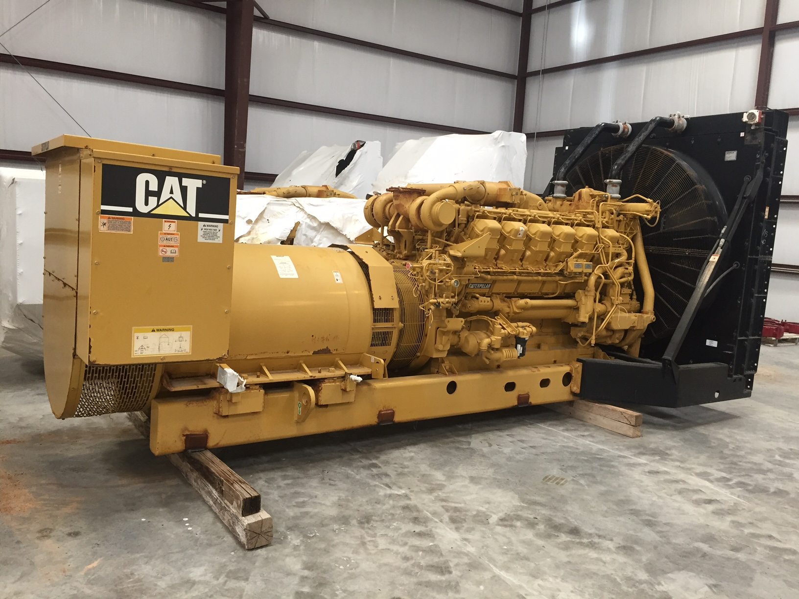 Caterpillar 3512 Mui Engine Sr4 Generator Set With
